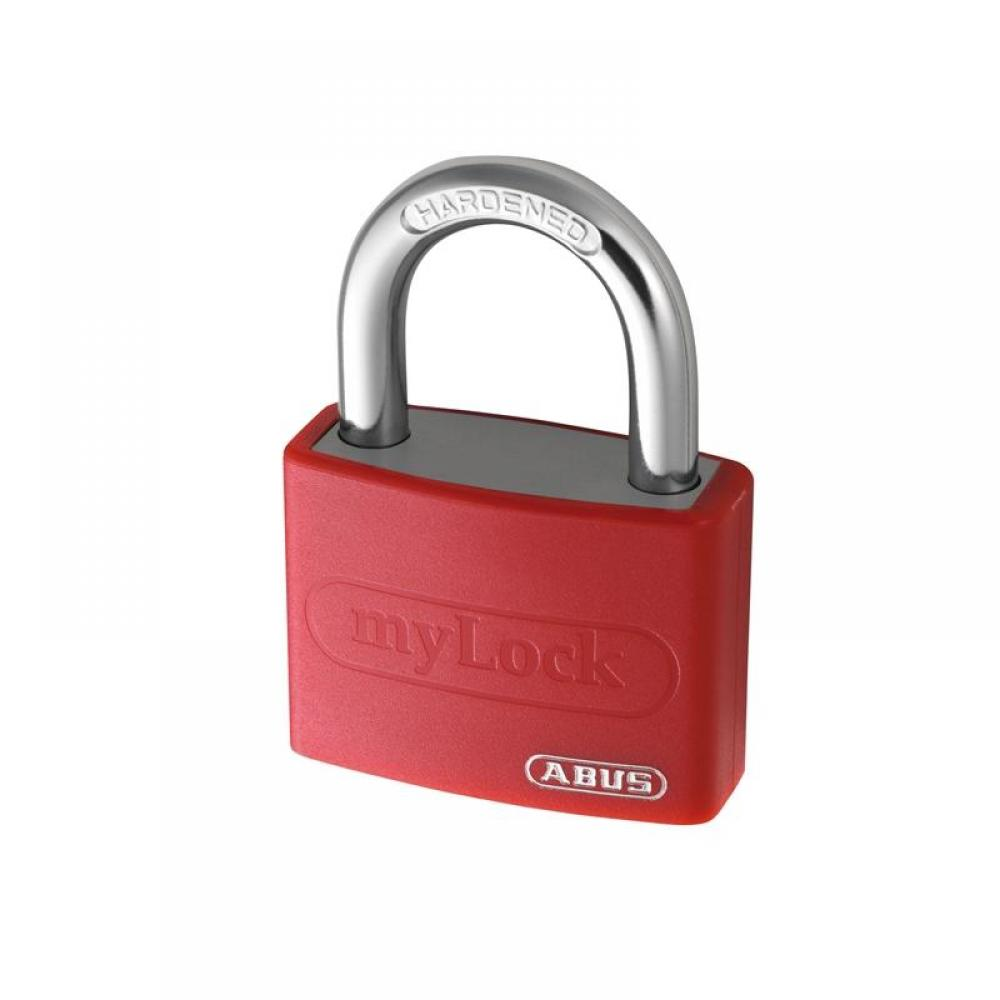 ABUS Mechanical T65AL/40mm My Lock Aluminium Padlock Red Keyed Alike 6401