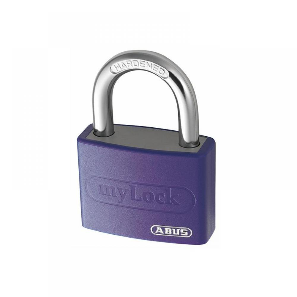 ABUS Mechanical T65AL/40mm My Lock Aluminium Padlock Violet Keyed Alike 6401