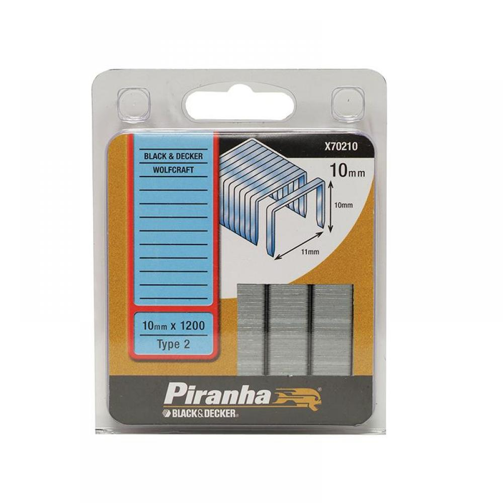 Black and Decker X70210 Flat Wire Staples 10mm Pack 1200