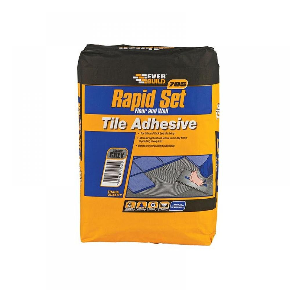 Everbuild 705 Rapid Set Tile Mortar 10kg RAPID10