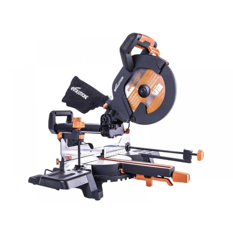 Evolution R255SMS+ Pro Multi-Material Sliding Mitre Saw 255mm 2000W 240V