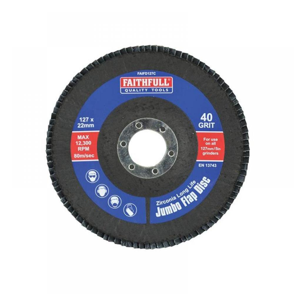 Faithfull Abrasive Jumbo Flap Disc 127mm Coarse FD127C