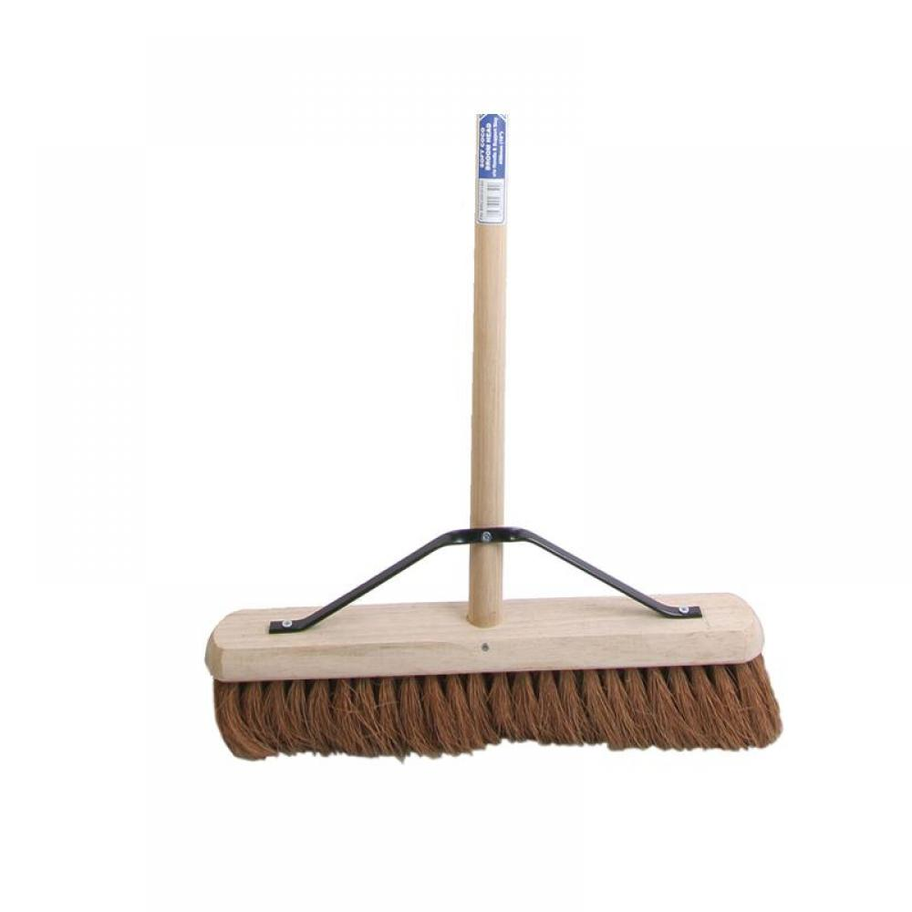 Faithfull Broom Soft Coco 450mm (18in) + Handle & Stay