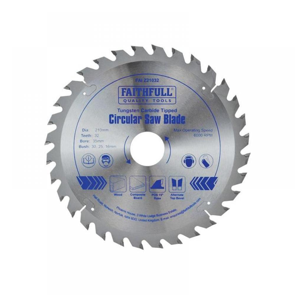 Faithfull TCT Circular Saw Blade 210 x 35mm x 32T POS