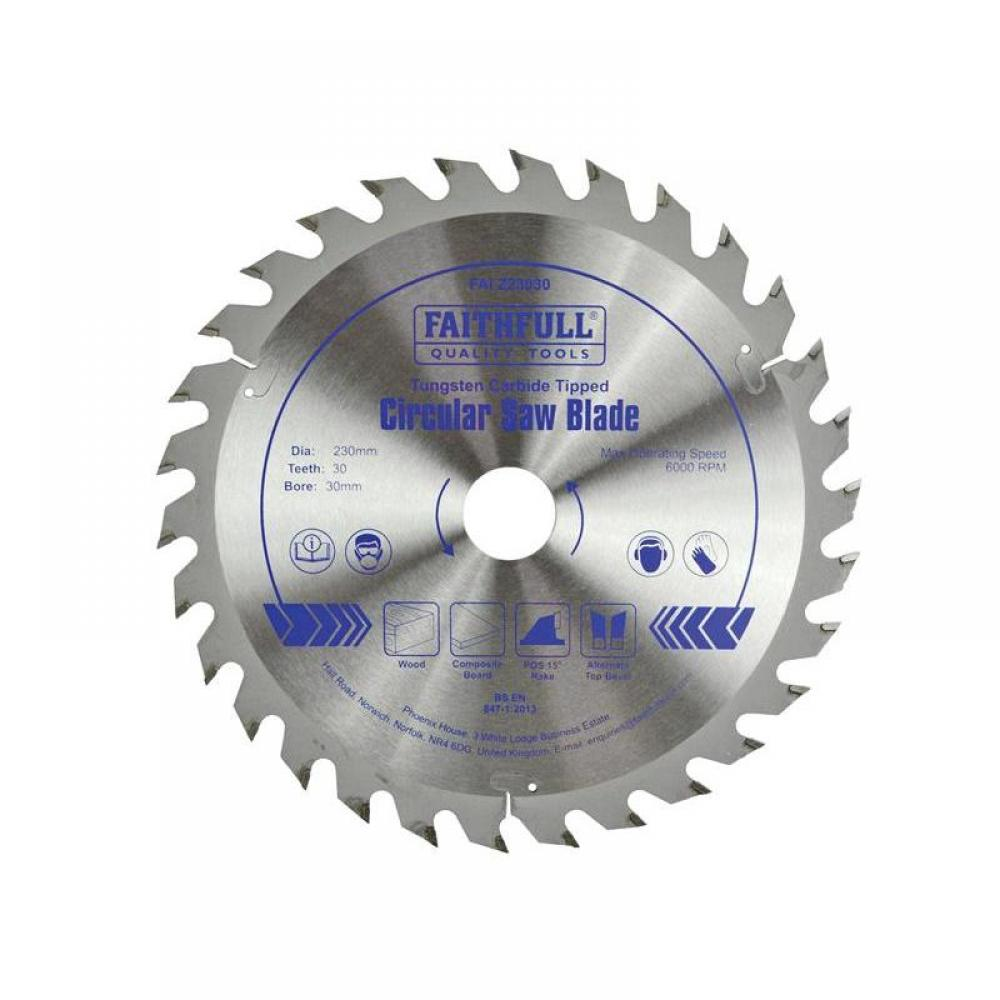 Faithfull TCT Circular Saw Blade 230 x 30mm x 30T POS