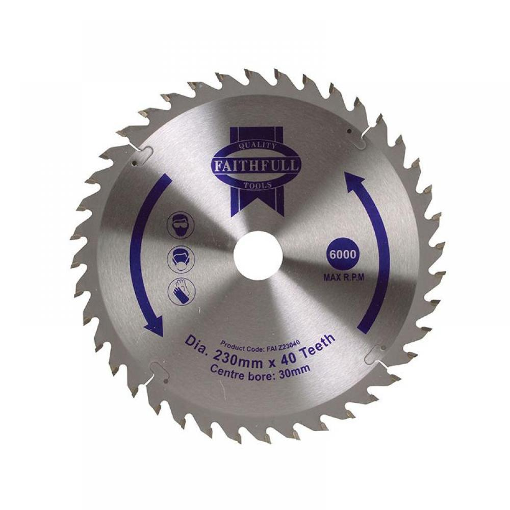 Faithfull TCT Circular Saw Blade 230 x 30mm x 40T POS