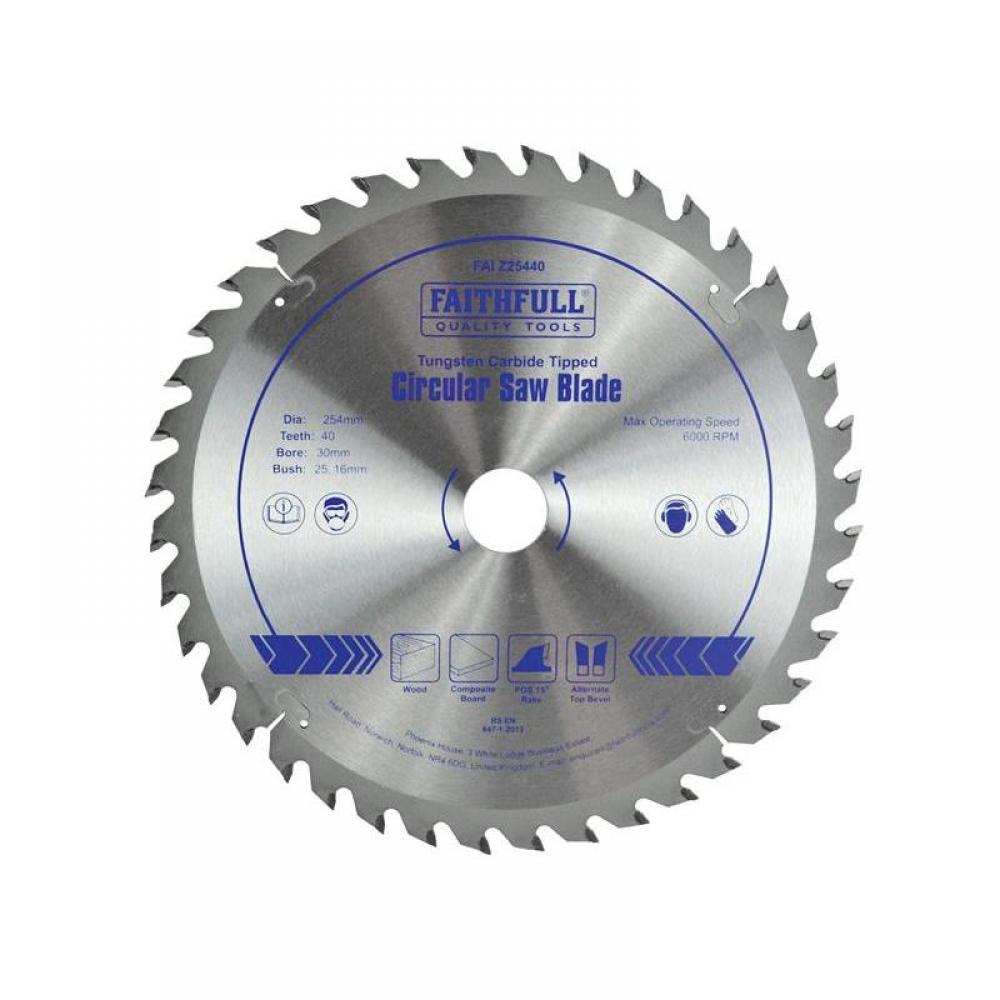 Faithfull TCT Circular Saw Blade 254 x 30mm x 40T POS