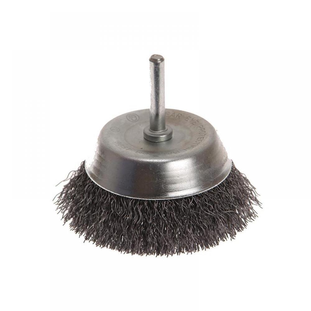 Faithfull Wire Cup Brush 75mm x 6mm Shank, 0.30mm Wire