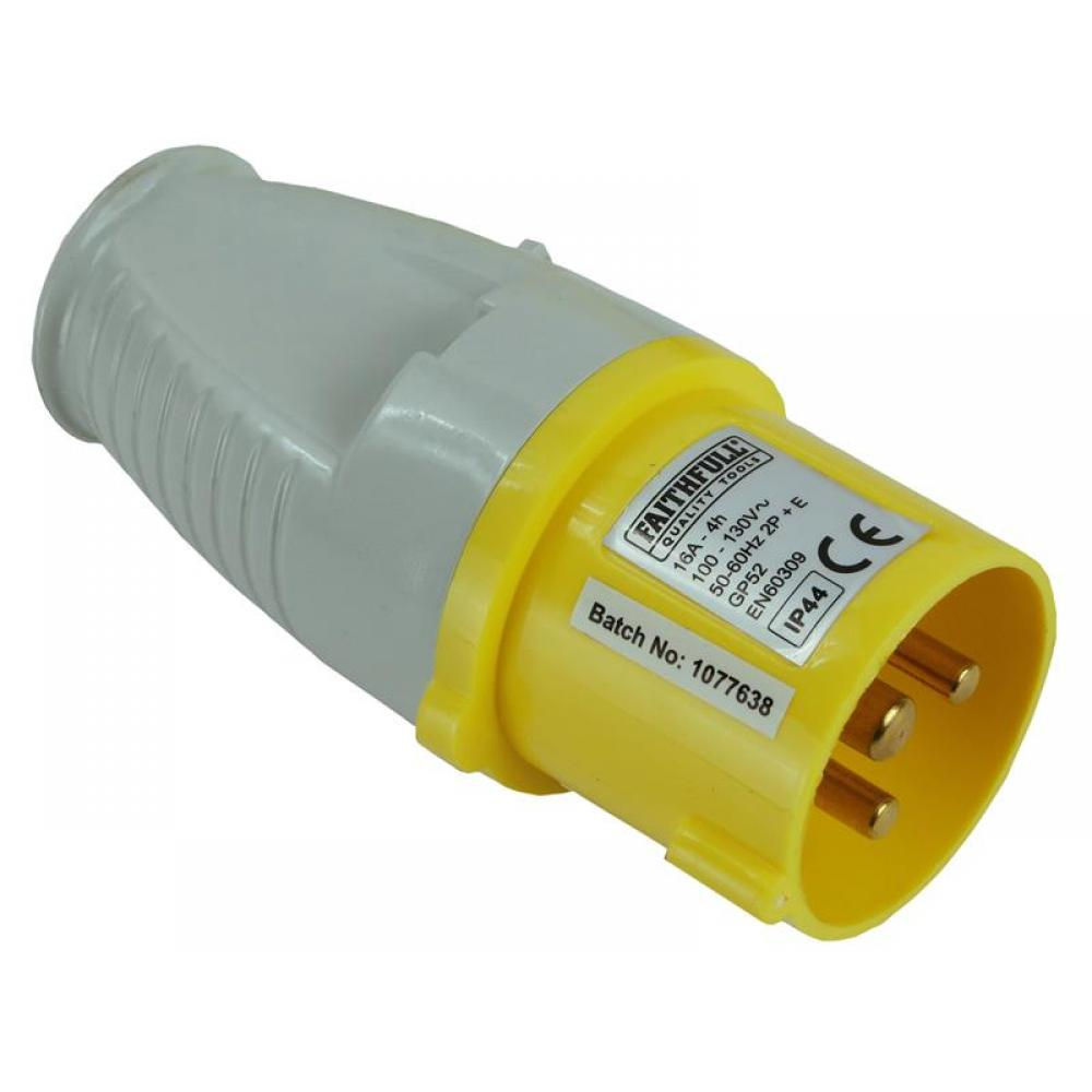 Faithfull Yellow Plug 16A 110V GP52