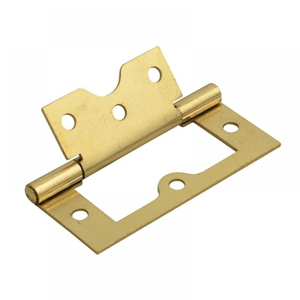Forge Flush Hinge Brass Finish 75mm (3in) (Pack 2)