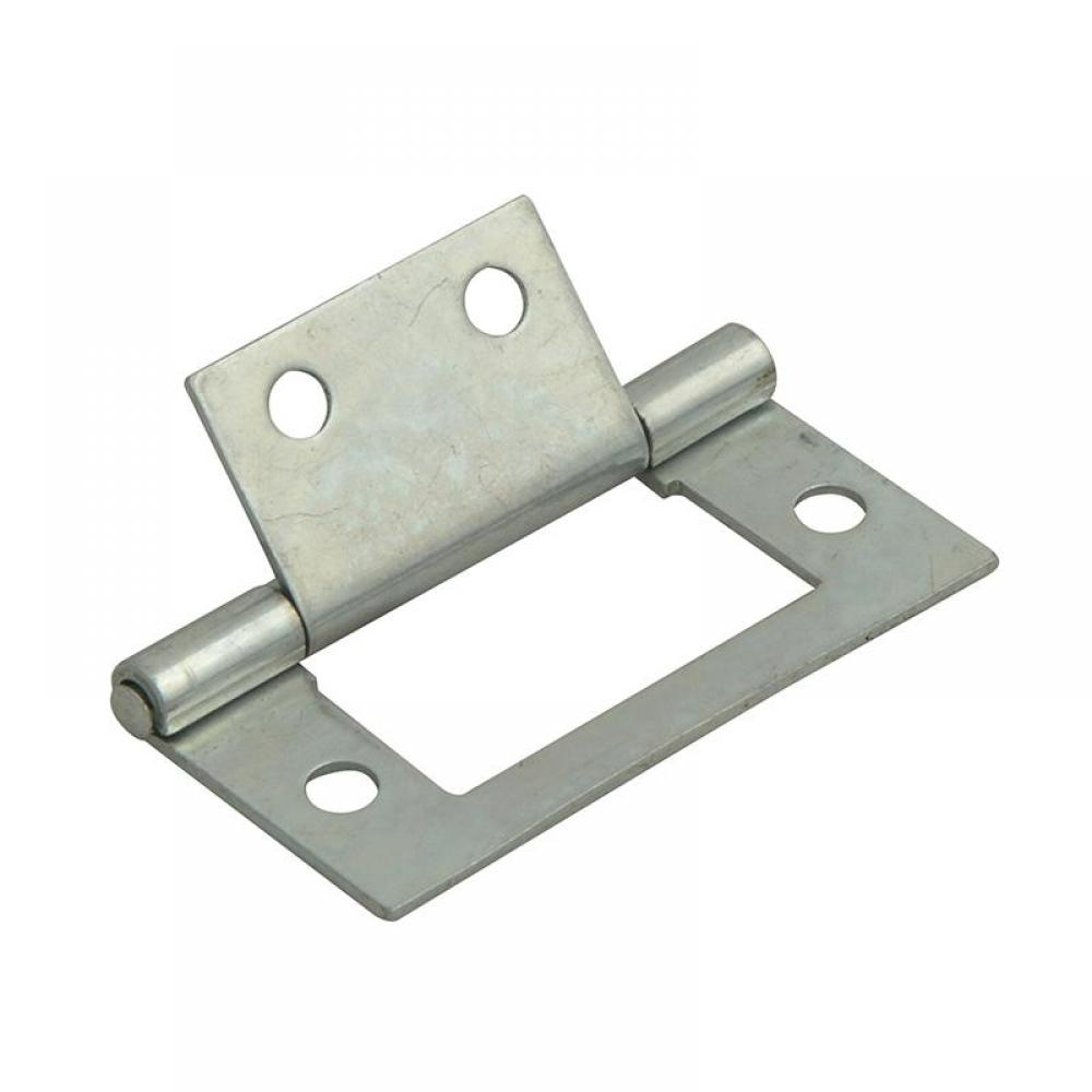 Forge Flush Hinge Zinc Plated 40mm (1.5in) Pack of 2
