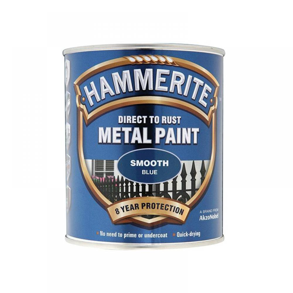 Hammerite Direct to Rust Smooth Finish Metal Paint Blue 750ml