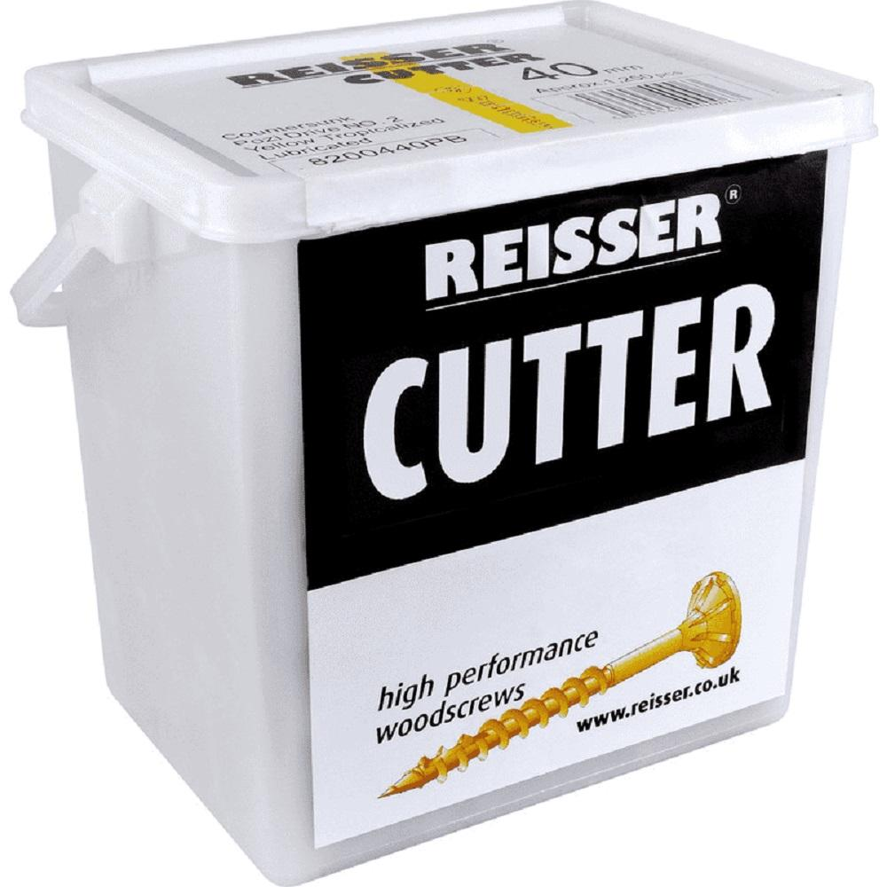 Reisser Cutter Pozi Countersunk Yellow Woodscrews 6.0 X 80 (Tub Of 250) 8221680PB
