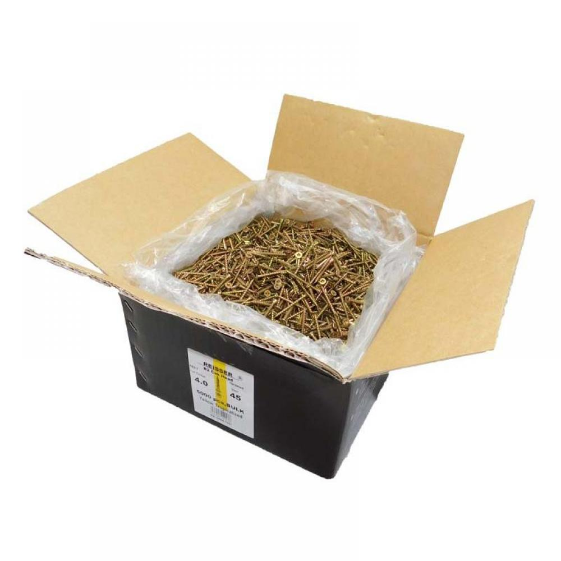 Reisser R2 Screws Csk Pzd Ft Yellow 4.0 X 40 Box Qty 6000 9200S22040040B