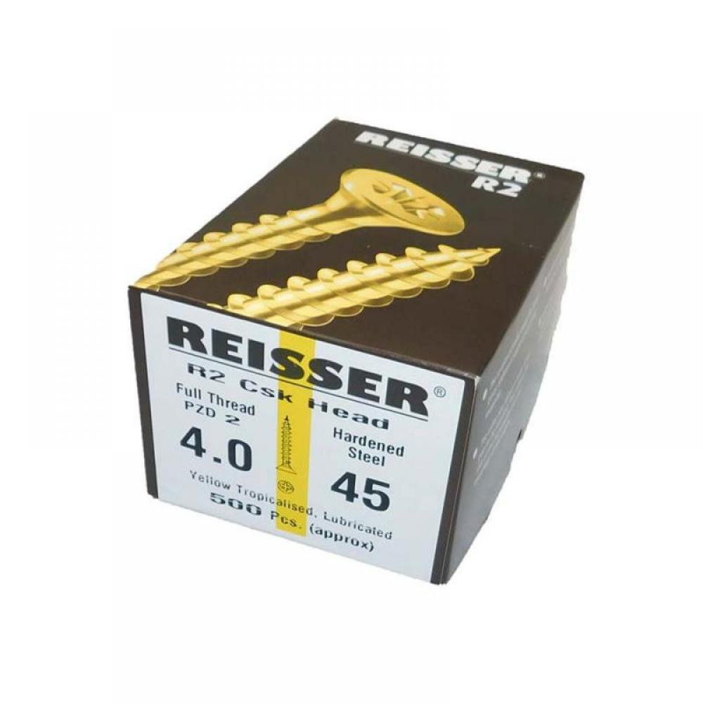 Reisser R2 Screws Csk Pzd Pt Yellow 4.0 X 80mm IP (Pack Of 500) 9221S220400806