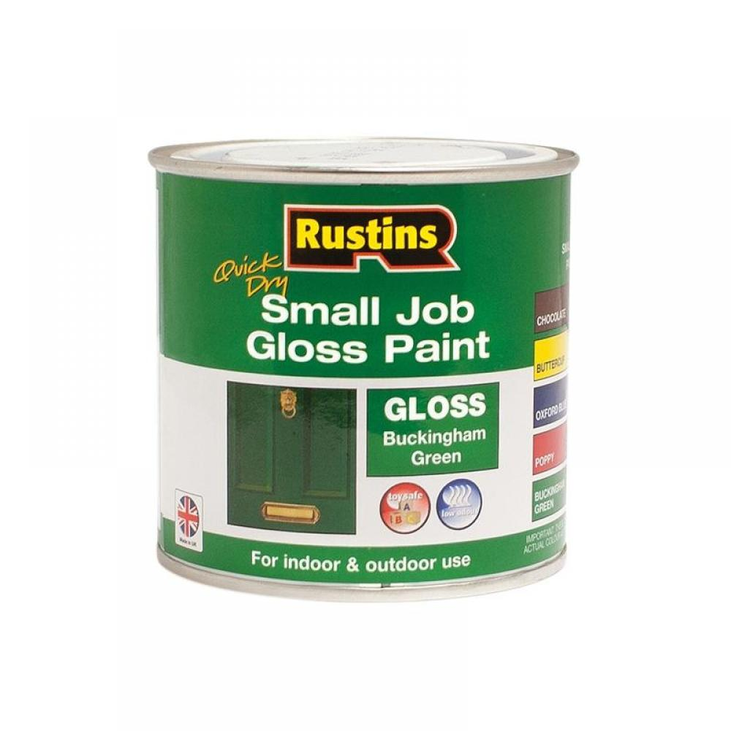 Rustins Quick Dry Small Job Gloss Paint Buckingham Green 250ml