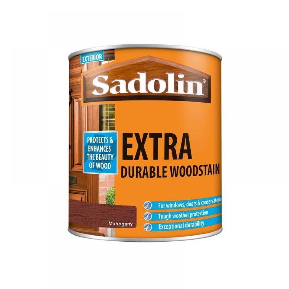 Sadolin Extra Durable Woodstain Mahogany 1 litre