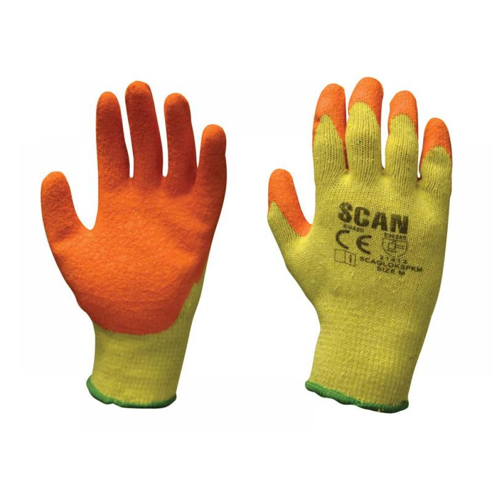 Scan Knitshell Latex Palm Gloves - M (Pack 12)