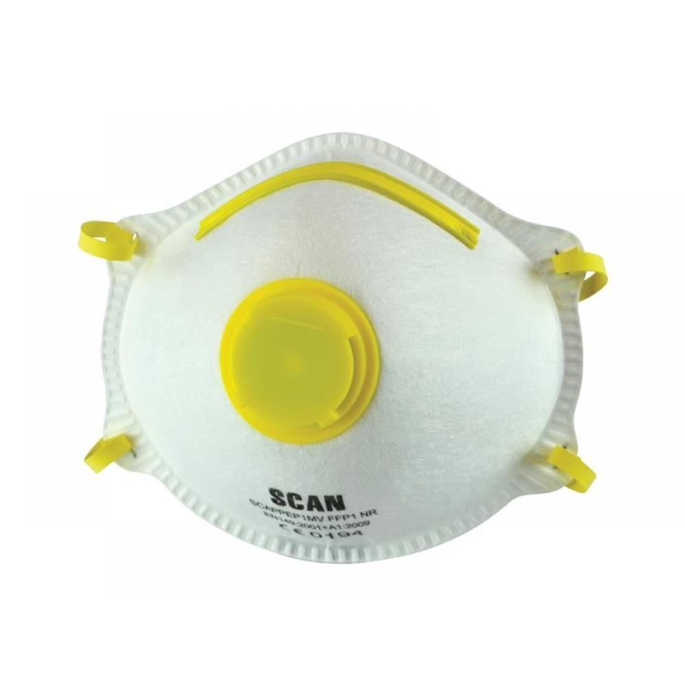 Scan Moulded Disposable Mask Valved FFP1 Protection (Box 10)