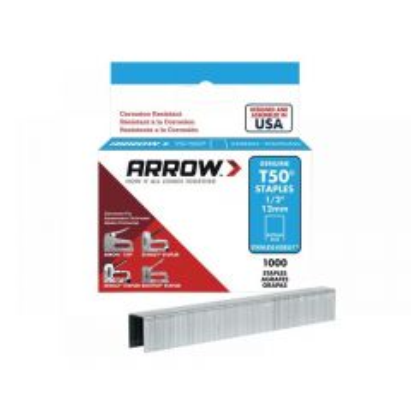 Arrow T50 Stainless Steel Staples Range