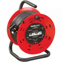 Clarke CCR25 4 Socket 25m Cable Reel With Thermal Cut Out (230V) 6155326