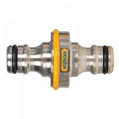 Hozelock 2044 Pro Metal Double Male Connector 12.5mm (1/2in)