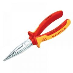 Knipex VDE Snipe Nose Side Cutting Pliers (Radio) 160mm