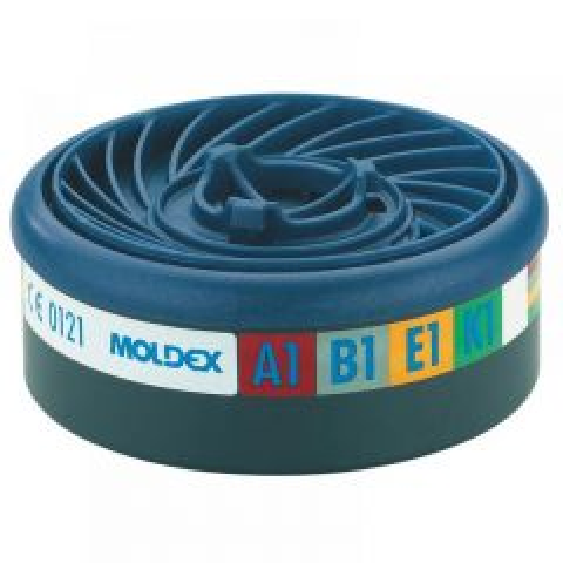 Moldex EasyLock ABEK1 Gas Filter Cartridge (Wrap of 2)