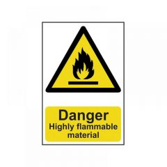 Scan Danger Highly Flammable Material - PVC 200 x 300mm 0901