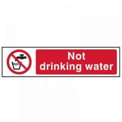 Scan Not Drinking Water - PVC 200 x 50mm 5051