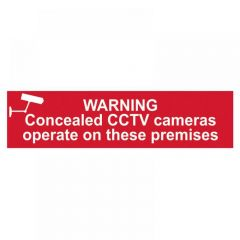 Scan Warning Concealed CCTV Cameras Operate On These Premises - PVC 200 x 50mm 5254