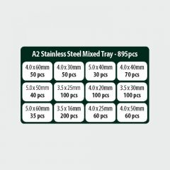 TIMco Classic A2 SS Screw Mixed Tray Range