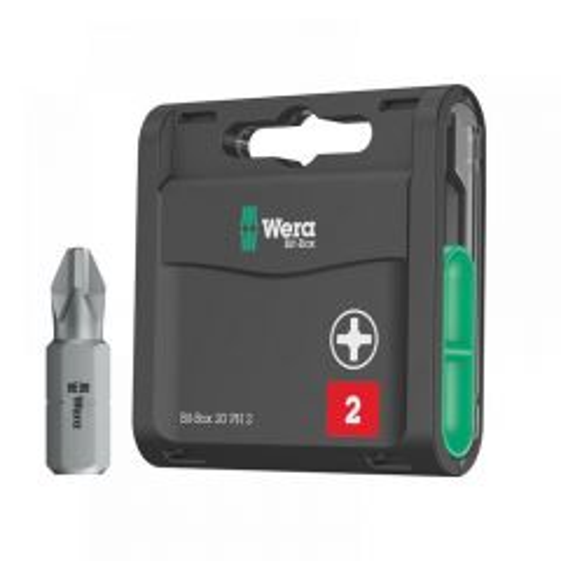 Wera Bit-Box 20 H Extra Hard Bits PH2 x 25mm, 20 Piece 05057750001