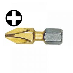 Witte Phillips No.3pt Titanium Coated Screwdriver Bits 25mm (Card of 2)