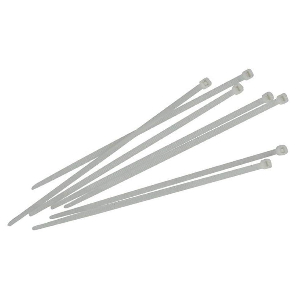 Faithfull Cable Ties White 3.6 x 200mm (Pack 100)